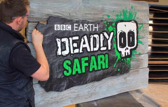 BBC - Deadly - 3D sign - The Grain - Theme Park Signage