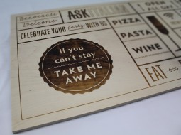 laser engraved sign - ask - The Grain - Display Sign