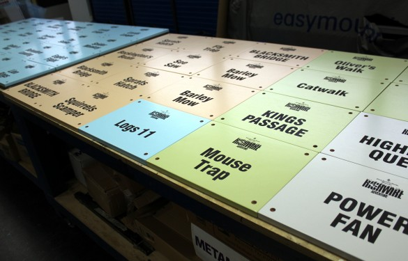 Laser carved Graphics with full pantone color infill