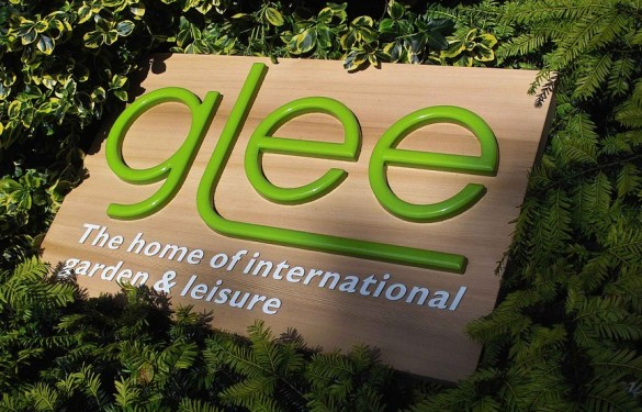 Glee Exhibition Sign - Raised Graphic sign on sandblasted cedarwood