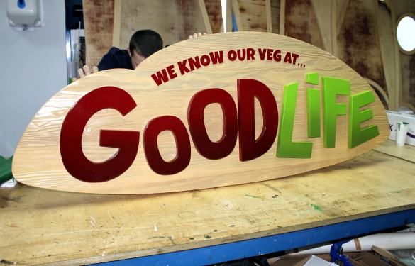 Good Life - Raised Graphics Sign