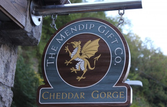 Mendip Gift co Cheddar Sandblasted Sign