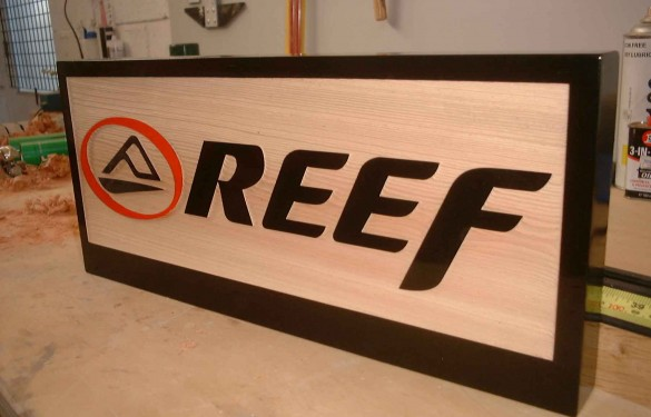 Reef Wooden Sandblasted Sign