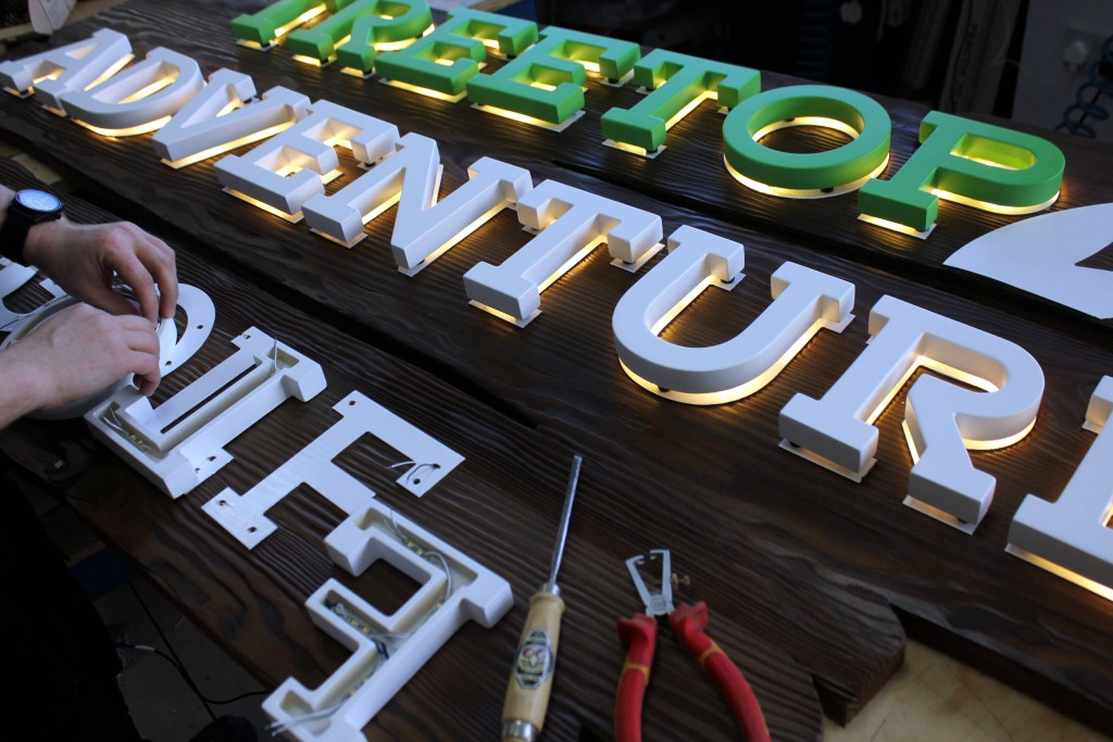 CNC Cut Out Letters and Graphics - The Grain
