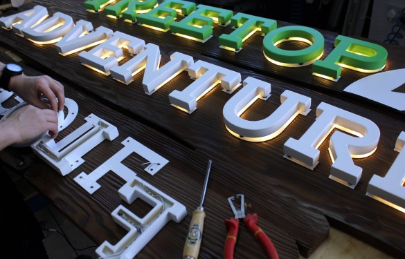 Treetop Adventure Golf - LED Backlit Letters - HDU letters 25mm