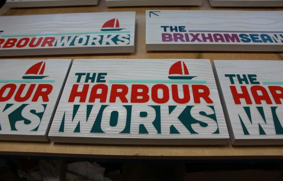 douglas fir sandblasted signs for