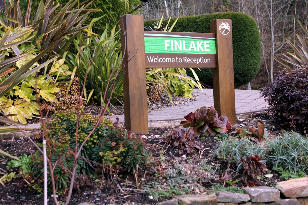"Entrance sign for ""Finlake"" ""Haulfryn"""