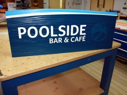 CNC carved and sandblasted sign For