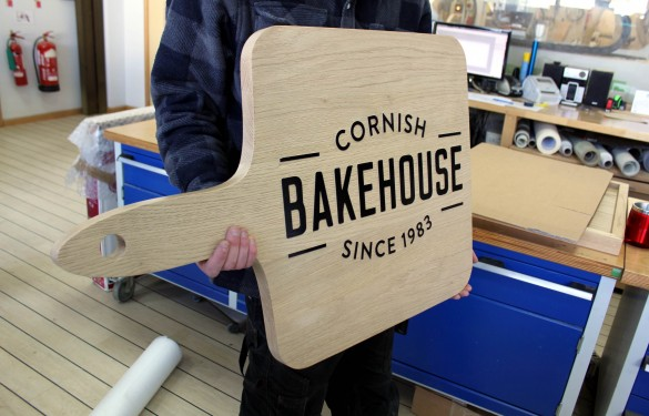 cornish bakehouse oak sign - pos - wooden sign - display sign - the grain