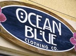 ocean blue polzeath - retail sign - display sign - sandblasted - the grain
