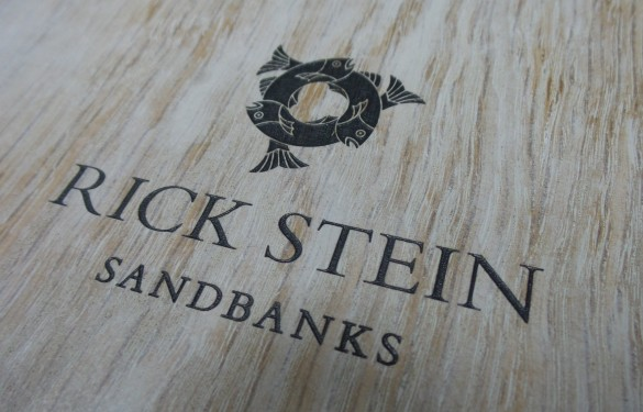 """Rick Stein"" Sandbanks restaurant, laser engraved menu"