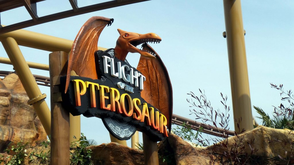 """""""Paultons Park"""" Flight of the Pterosaur, Themepark Signage, 3d carved sign, Dinosaur sign, Ptersosaur, Hand crafted signs"""