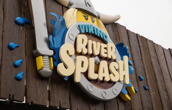 Legoland Viking River Splash. Theme Park sign. 3D sign
